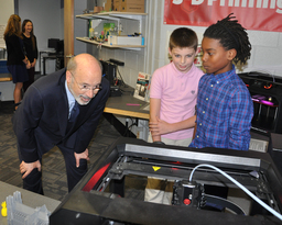Governor visits Colonial Middle School to announce PSSA changes