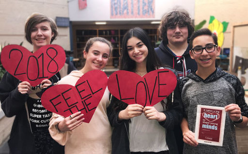 Send a heart to a favorite teacher through Feel the Love 2018