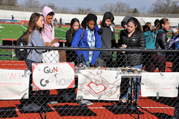 Colonial students participate in national walkout