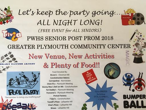 Volunteers and donors needed for PWHS Post Prom