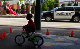 Conshohocken Police team with CE for Bike Day