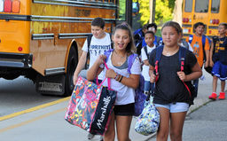 Colonial celebrates first day of school