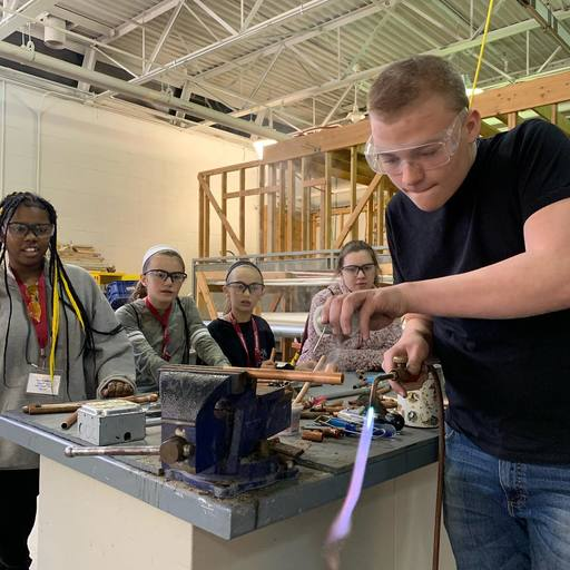 Colonial students tour Central Montco Technical High School