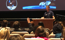 PWHS alum visits science classes to talk about NASA and American Ninja Warrior
