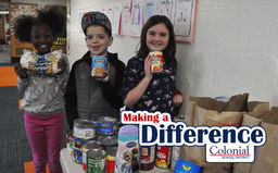 Making A Difference: Colonial Neighborhood Council Food Drive