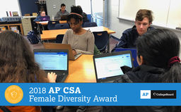 PWHS wins College Board AP Computer Science Female Diversity Award