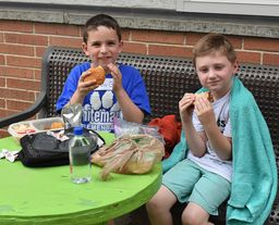 Conshohocken and Whitemarsh pen pals enjoy picnic lunch