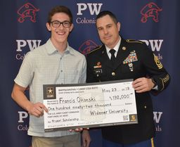Okonski earns four-year ROTC scholarship to Widener