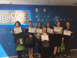 Colonial Middle School girls explore technology at Pfizer
