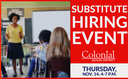 Colonial School District: Substitute Hiring Event