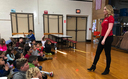 Meteorologist visits Whitemarsh Elementary's second grade