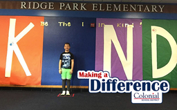 Making A Difference: Being the I in Kind at Ridge Park Elementary