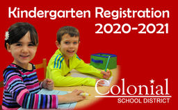 2020-2021 Kindergarten Registration is open