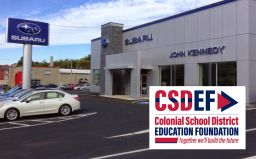 CSDEF and John Kennedy Subaru donates $4,000 to meals program