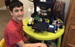 CMS seventh grader uses tech skills to help essential workers