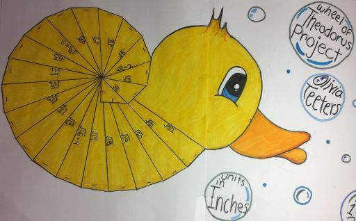 CMS seventh graders made creative drawings for math class