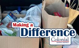 Making A Difference: Colonial Middle School Thanksgiving Food Drive