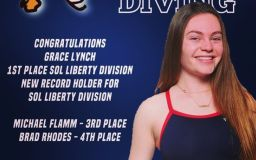 Lynch breaks division record and takes first place at SOL Liberty Division diving championships