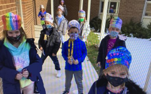 Elementary students celebrated 100 days of school