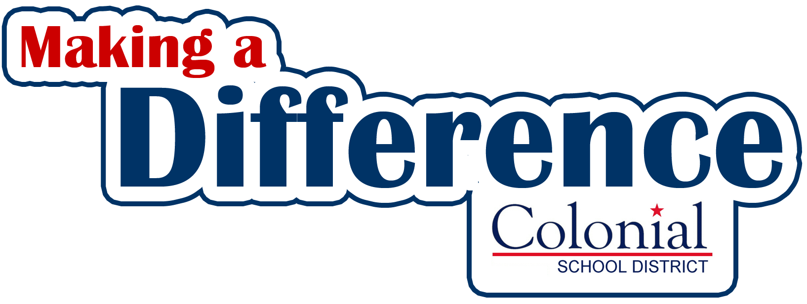 Logo that says Making a Difference Colonial School District