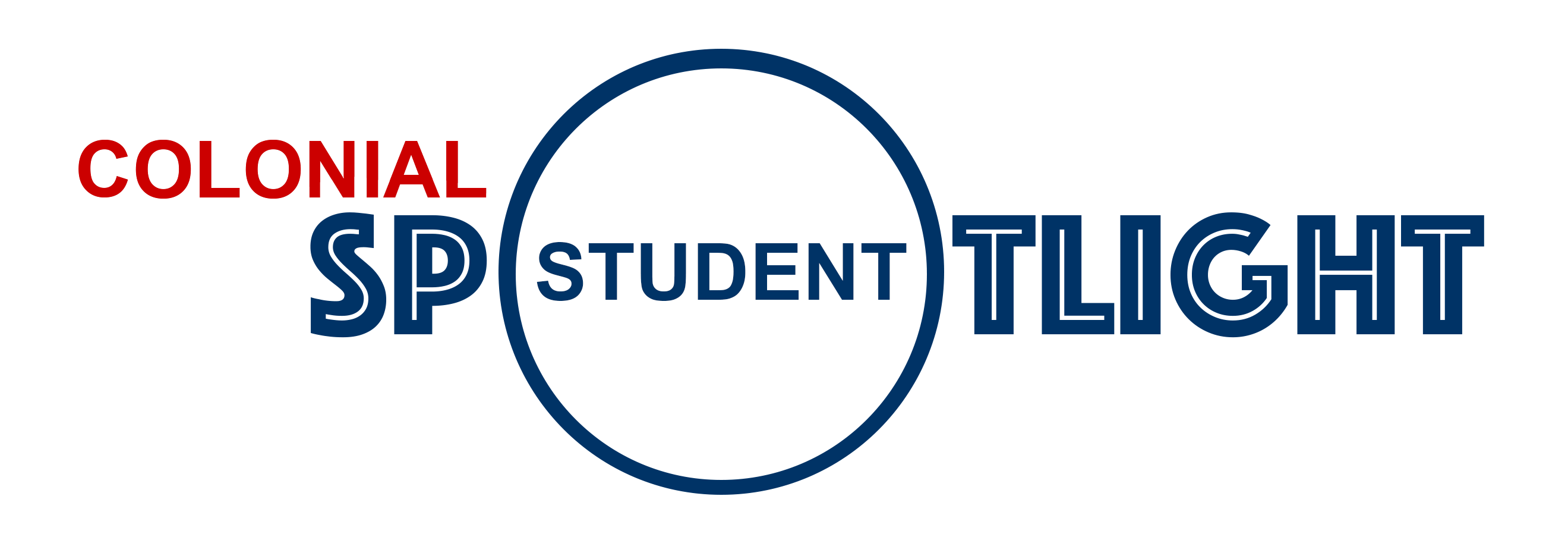 Colonial Student Spotlight logo made of text