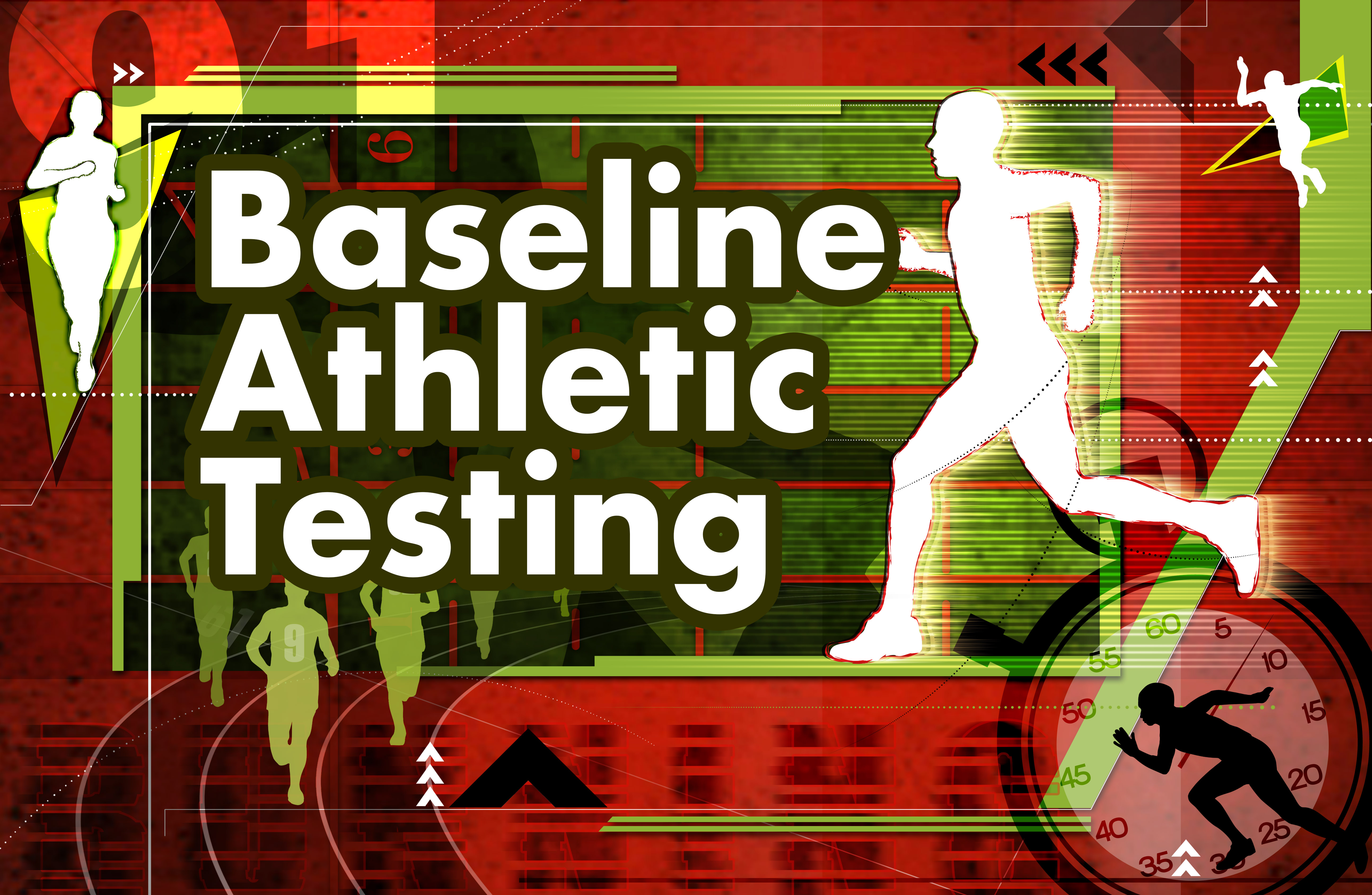 Text says Baseline Athletic Testing, various silhouettes of runners