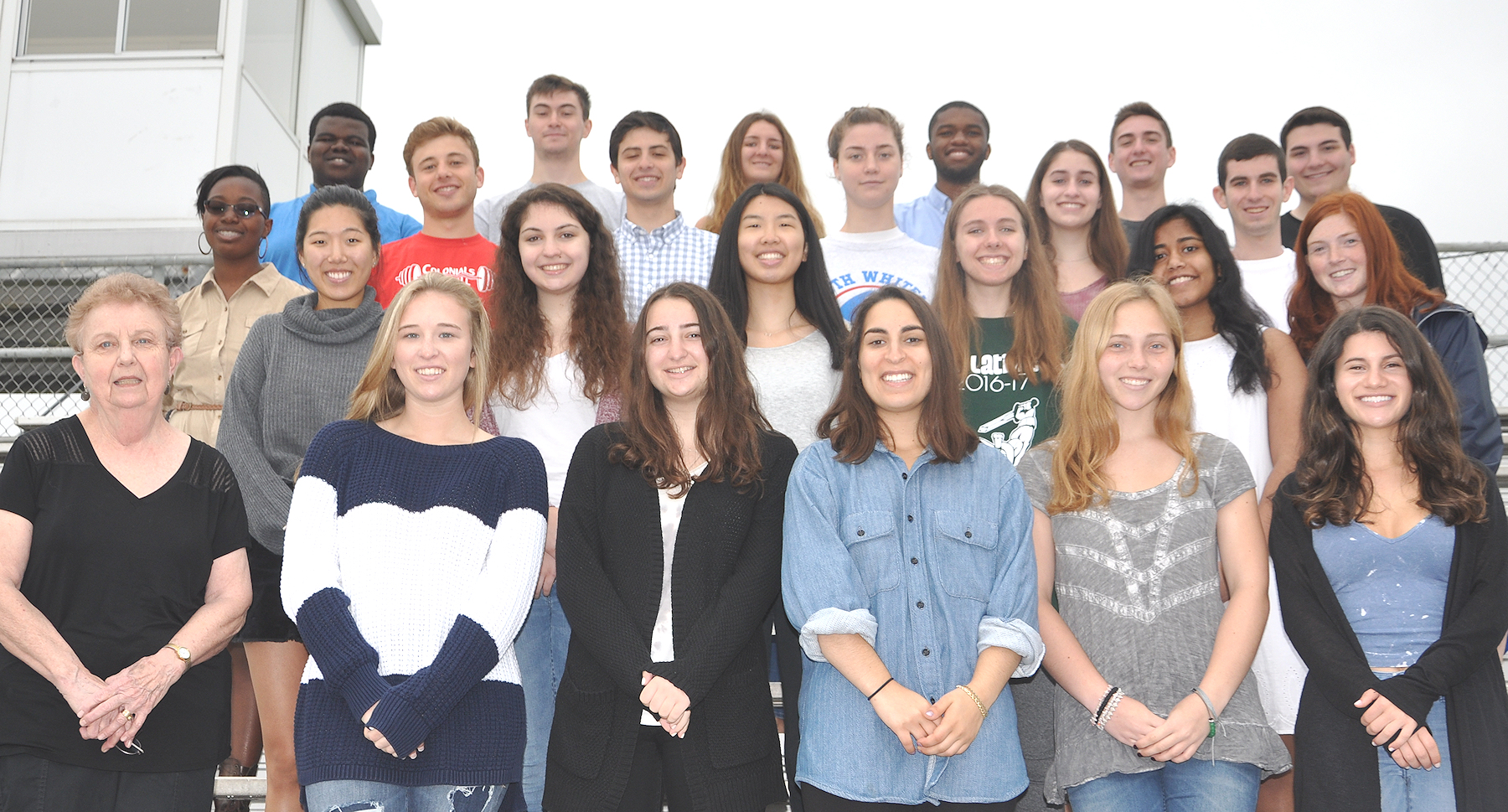 Plymouth Whitemarsh High School Scholarship Award winners standing in rows