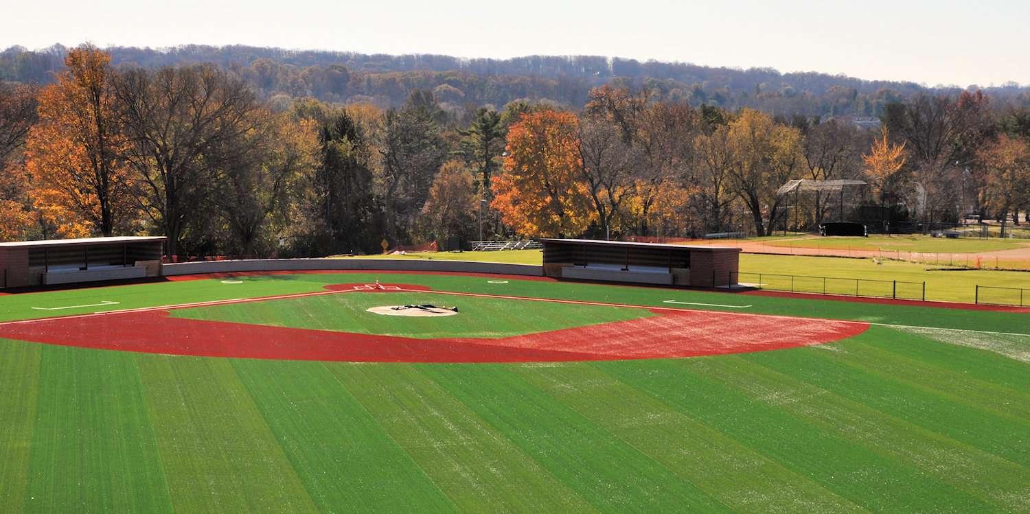 The new high school baseball field will be covered by security cameras funded with the Safe Schools grant.