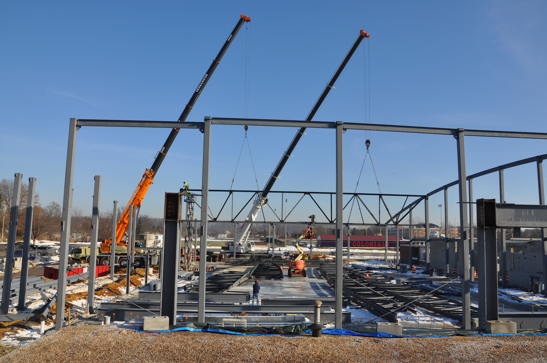 view of steel construction.