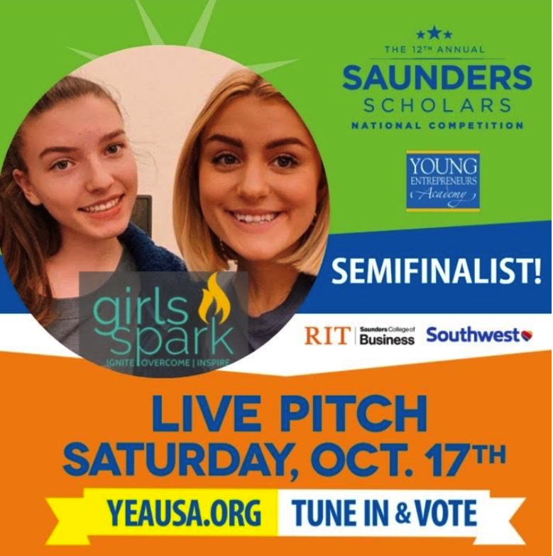 Saunder Scholarship Girls Spark ad with info from article