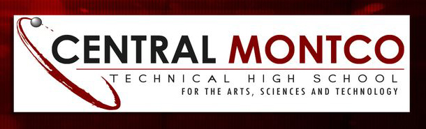 Logo for Central Montco Technical High School and link to Central Montco High School website
