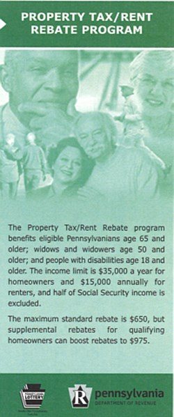 Property Tax/Rent Rebate Program brochure cover