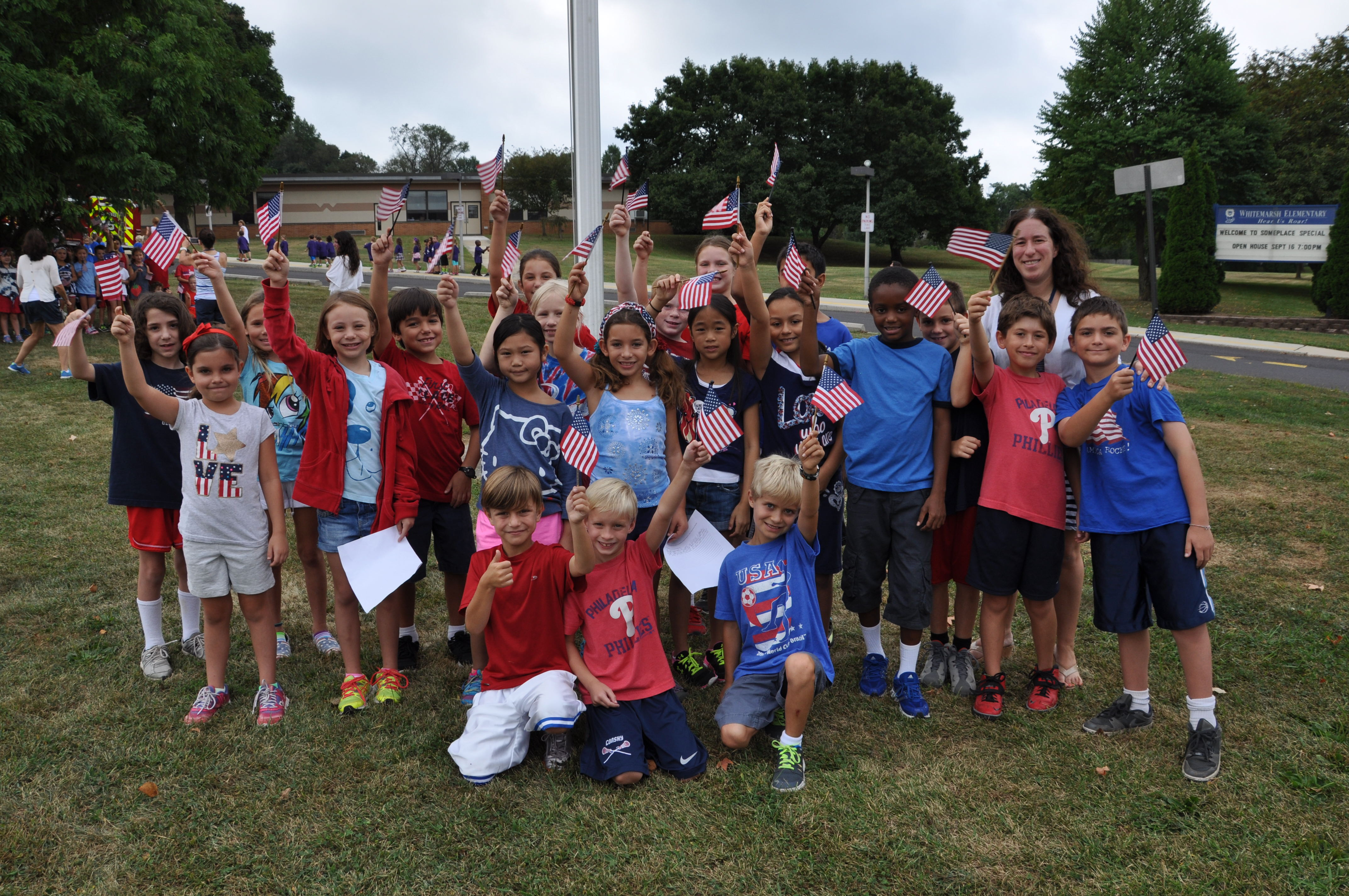 Whitemarsh Elementary celebrates America and honors heroes on 9/11
